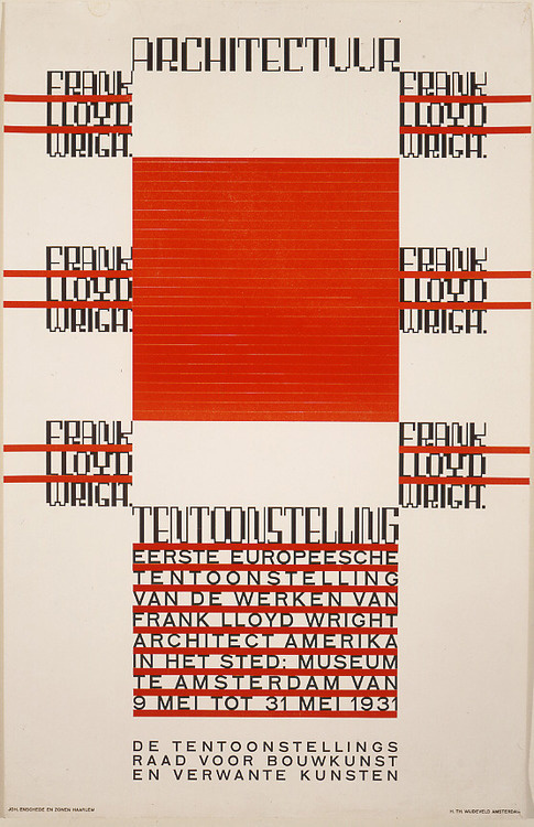 1930 book cover designed byFrank Lloyd Wright, one of the iconic architect #wright #book #cover #frank #lloyd