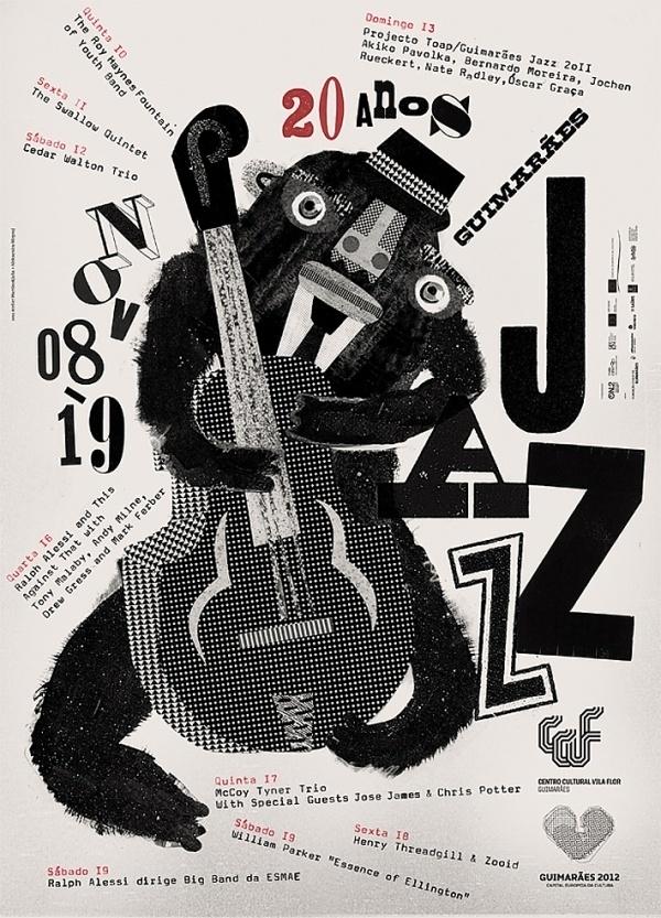 Guimarães Jazz Posters | feel desain #script #jazz #graphic #posters #poster #handwrite #music