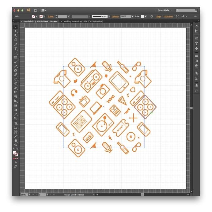 10 #icon #illustrator #pattern