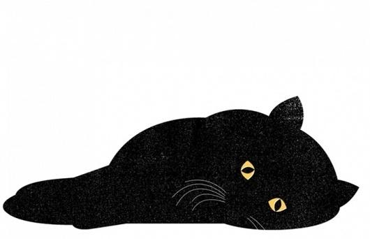 It's Nice That : Clara Terne #print #cat #black