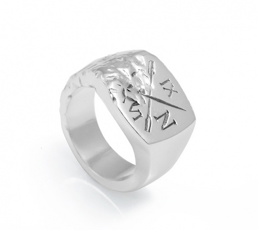 Ivy Noir / Silver Signet Ring — SMITH/GREY Jewellery Design Studio #silver #graphic #oars #ring #signet