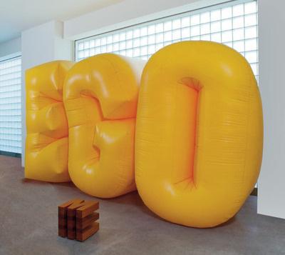 by nancy dwyer #letters #ego #balloon #art #instalation