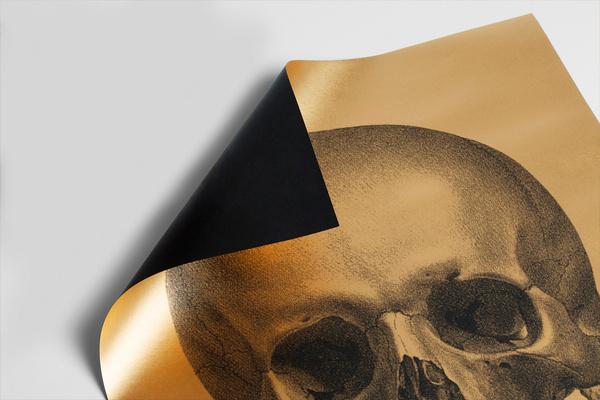 1c.jpg #gold #print #poster #skull