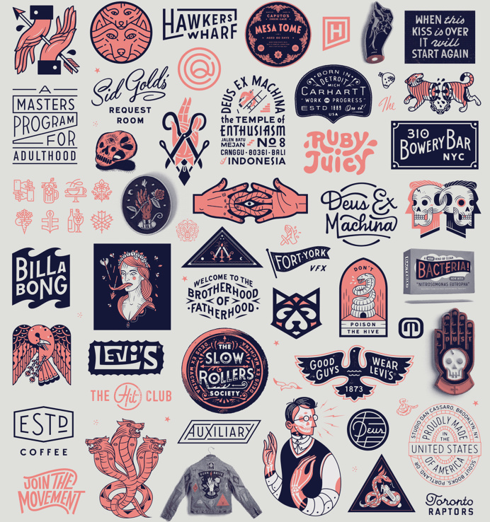 #typography #illustration #iconography #badges