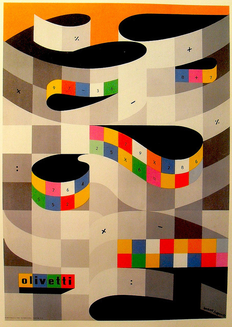 Herbert Bayer Olivetti ad #primary #design #graphic #color #advertising #poster