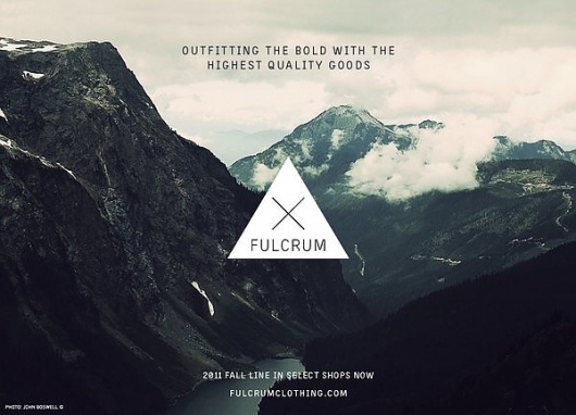 FULCRUM BRANDING on the Behance Network #branding #photography #minimal #fulcrum #logo