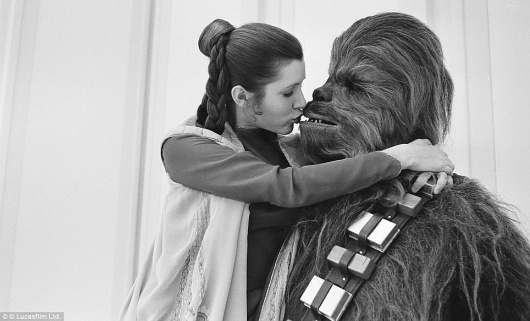 Empire Strikes Backstage: Intimate pictures of cast and crew during filming of 1980 Star Wars movie | Mail Online #princess #wars #leia #star #chewbacca