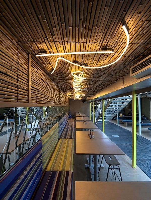 wahaca southbank experiment: shipping container restaurant #interior #design #architecture #container