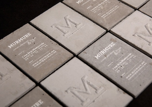 murmure: concrete business card #concrete #branding #business #card #design #identity #logo #typography