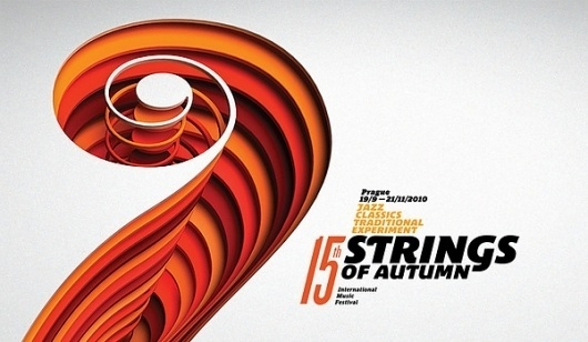 Strings of Autumn 2010 - visual identity & campaign on the Behance Network #poster #design #branding