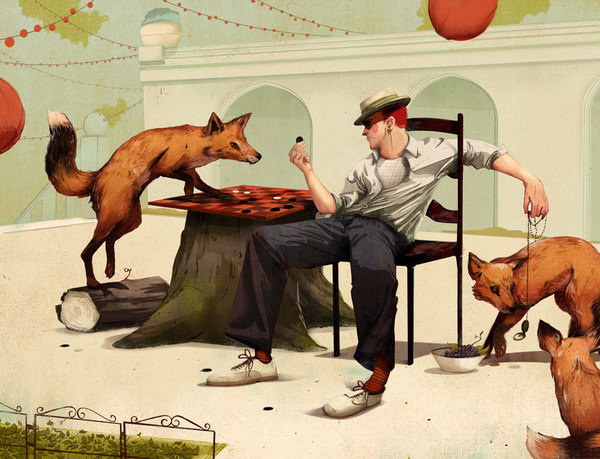 The Fox Trap #illustration #american #classics