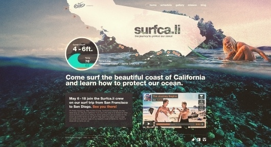 Nike 6.0 // Surfca.li on the Behance Network #website #surfing #nike
