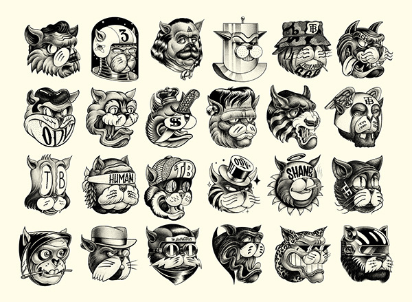 SHA-NE on Behance #illustration #ink #cats #pen