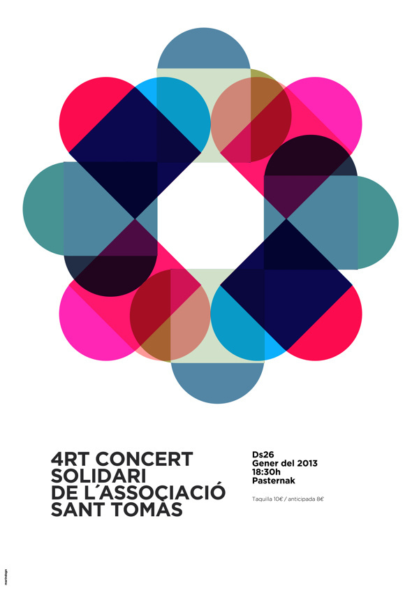 Solidary Concert poster on Behance #graphic #poster