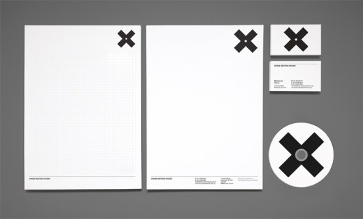 Hunt Studio — Cross Section Studio · Losko #businesscard #branding #cross #identity #letterhead