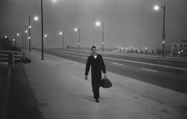 Garry Winogrand. 'New York' 1950 #white #sailor #black #photography #vintage #and #york #50s #navy #new