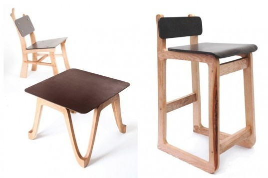Çurface furniture made of recycled coffee grounds by Re Worked #coffee #furniture