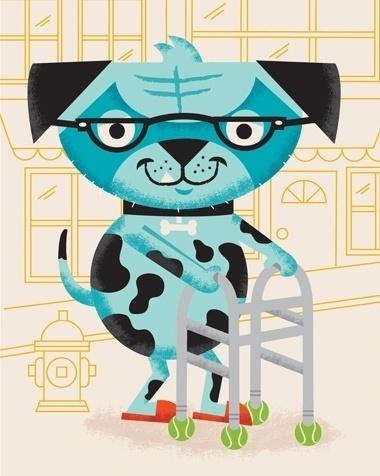 blog - tad carpenter #glasses #tennis #ball #texture #tad #carpenter #walker #dog