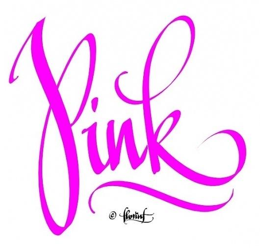 pink   Flickr - Photo Sharing! #calligraphy #handwriting #pink #digital #florin #florea