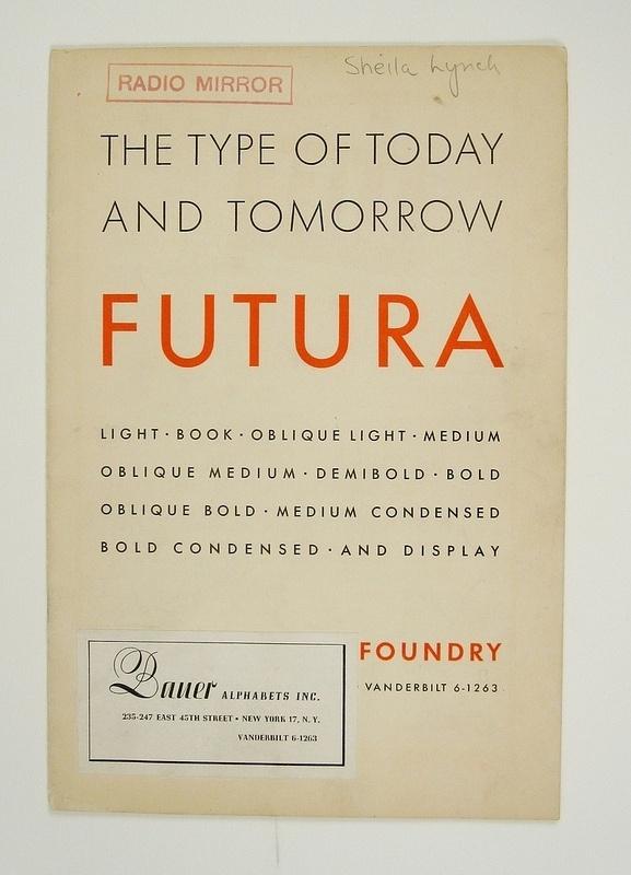 1930's Futura Specimen Booklet | Flickr - Photo Sharing! #futura #vintage #typography