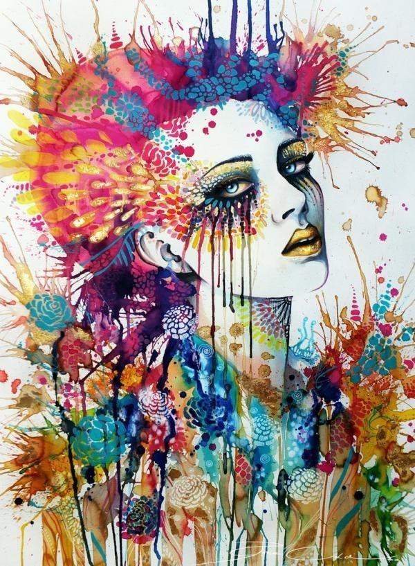 Colorful Portrait Paintings by Svenja Jödicke #paintings #jdicke #colorful #portrait #svenja