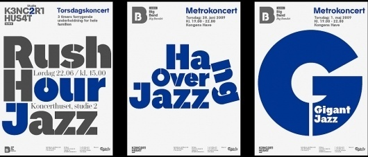 DR Koncerthuset - Name Development, Brand Structure, Visual Identity & Print Campaign #posters #typography