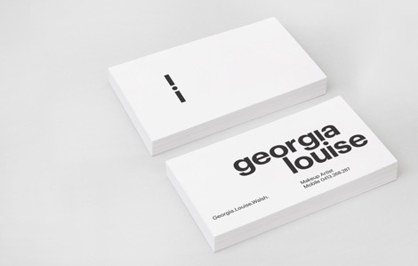 Varia — Georgia Louise #card #business #typography