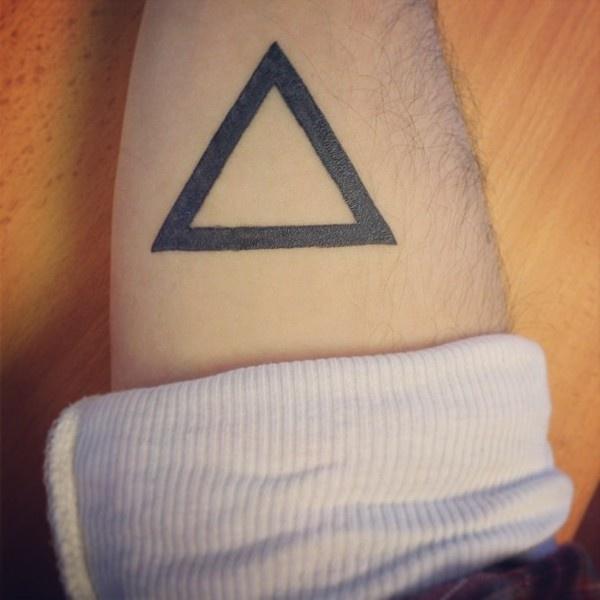 Finished #ink #black #tattos #tattoo #shape #triangle