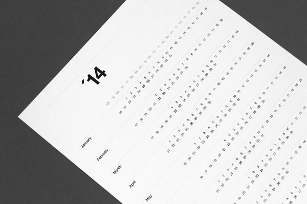 2014 Calendar #calendar #calendars #minimal #poster #typography