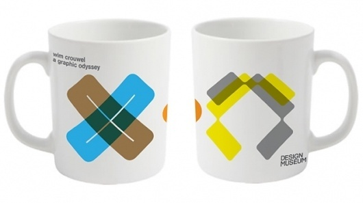 Design Museum Shop: Exhibition Products > Current Exhibitions > Wim Crouwel, A Graphic Odyssey > Wim Crouwel Coloured Mug #museum #design #crouwel #mug #minimal #wim