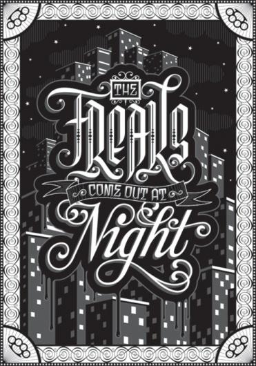 "Typeverything.com - ""The Freaks"" Poster - Typeverything #lettering #design #poster"