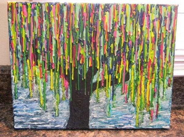Best Art Tree Melted Crayon Creative Images On Designspiration