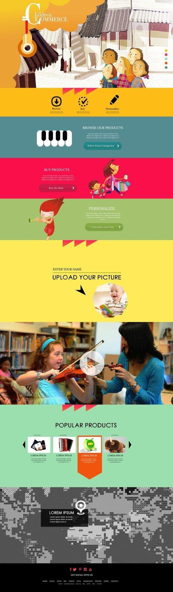 | Children E commerce Design Concept | #commerce #websiteconcept #parallax #e #layout
