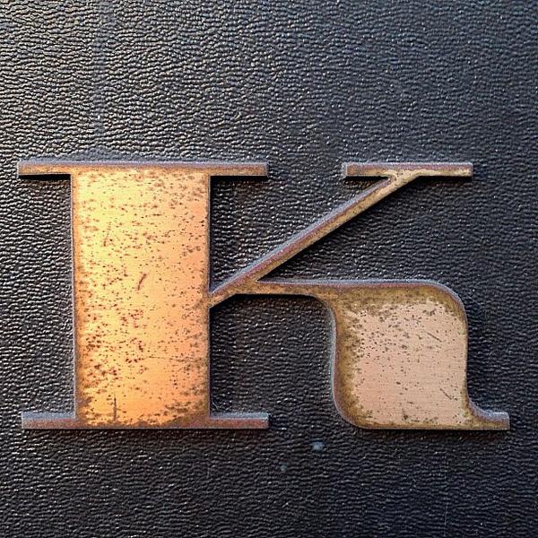 K #typography
