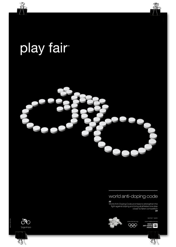 play fair poster series #pills #design #graphic #poster #olympics #editorial