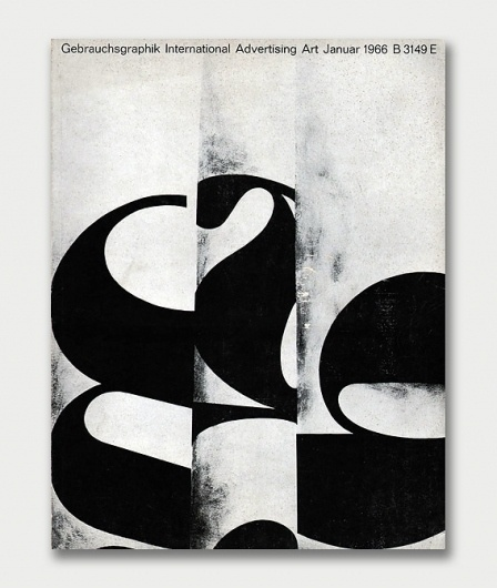 Gebrauchsgraphik Covers, 1966 / Aqua-Velvet #white #black #publication #cover #gebrauchsgraphik #vintage #and #german