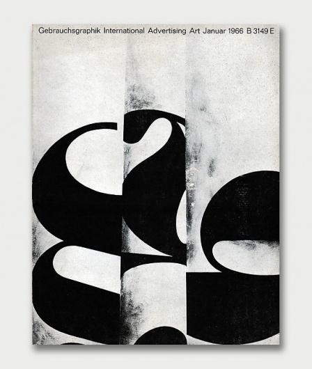 Gebrauchsgraphik Covers, 1966 / Aqua-Velvet #white #black #publication #cover #gebrauchsgraphik #vintage #and #german
