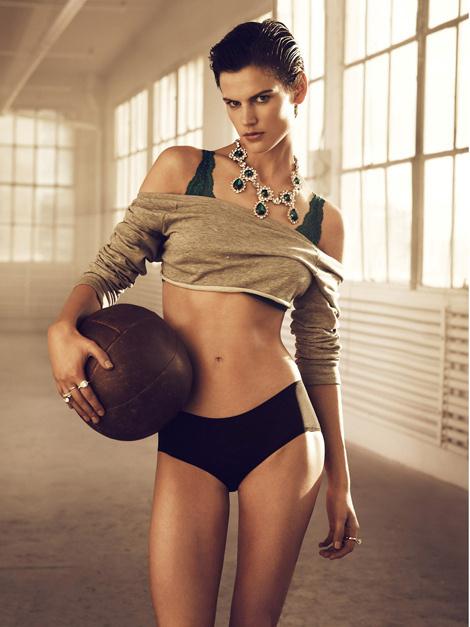 Saskia de Brauw by Lachlan Bailey for H #model #girl #photo #photography #fashion #sport
