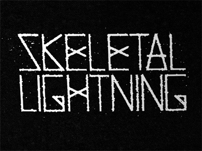 Dribble skeletallightning #type #rough