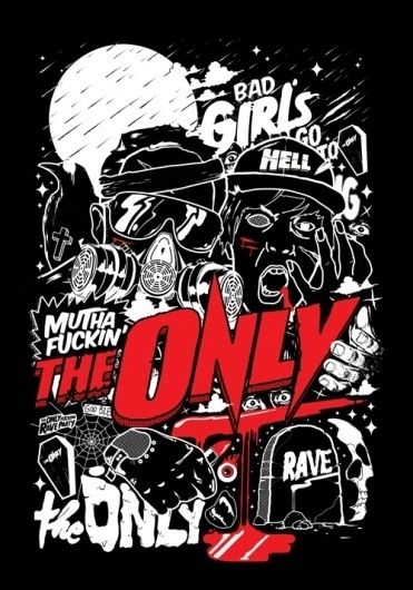 The Only #gig #the #artwork #illustration #poster #only #band