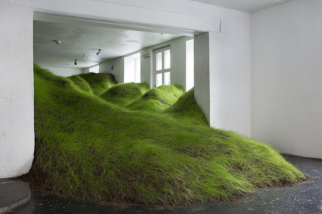 Per Kristian Nygård Invades Indoor Spaces with Plant Life Installations | Hi-Fructose Magazine #installation #art #grass #plants