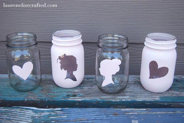 50+ Cute Mason Jar Craft Ideas #mason jar #bottle #craft #diy #homemade