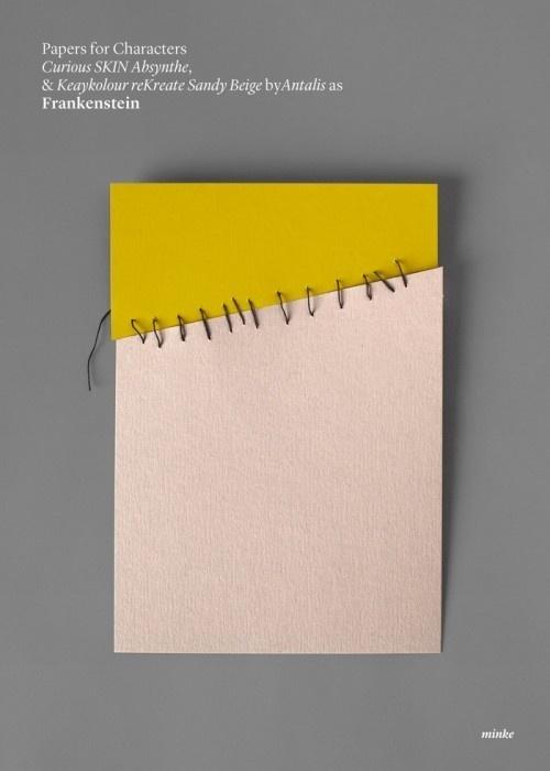 minimalist paper film poster - frankenstein #frankenstein #design #graphic #horror #minimalism #stitches #minimal #posters #film #paper