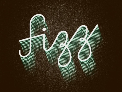Tumblr #halftone #lettering #jeff #fizz #type #jarvis #typography