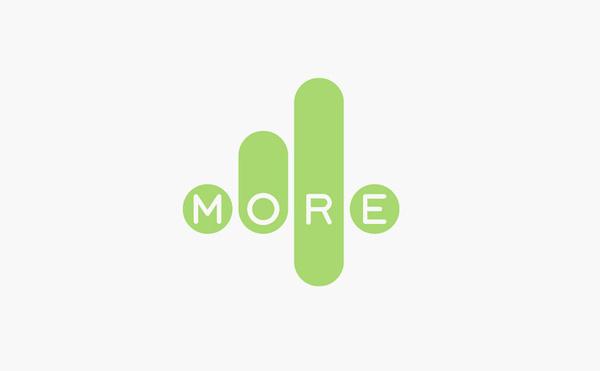 more4 logo design #logo #design