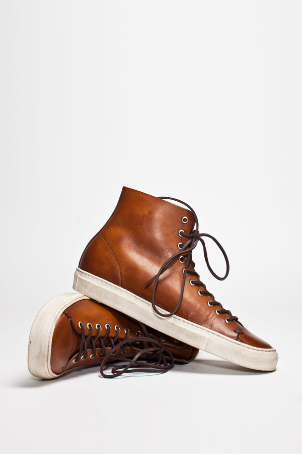 Buttero Tanino High Leather Brown   TRÈS BIEN #shoes #italian #sneakers #leather #buttero