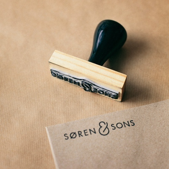 Soren & Sons #logo #stamp #design