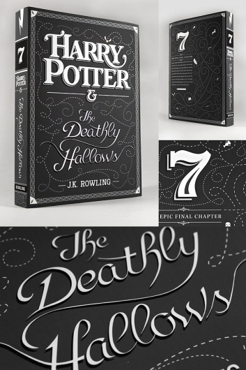 Harry Potter & The Deathly Hallows Typography #lettering #design #book #custom #type #typography