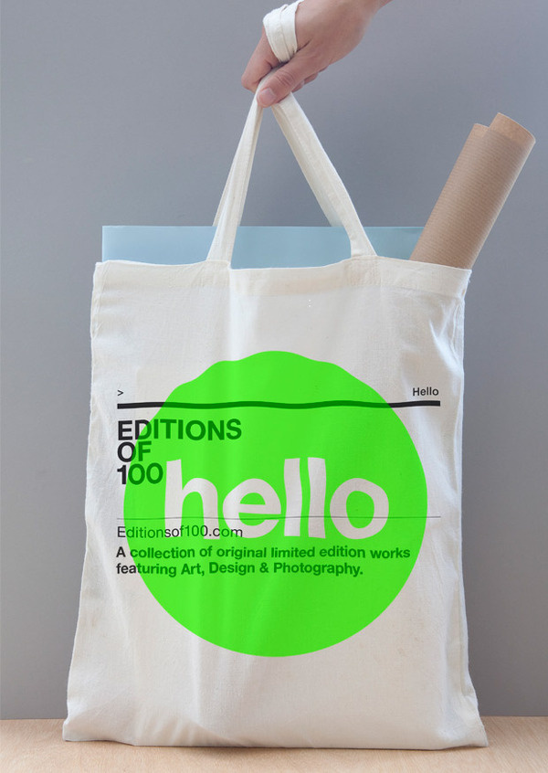 Editions of 100: High res Images #branding #graphic #neon #circle #bag