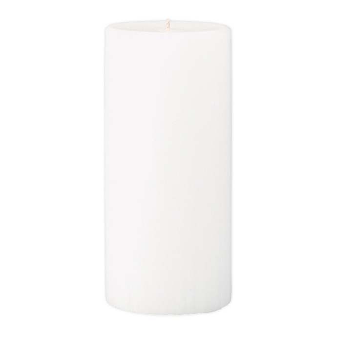 Marbled Pillar Fresh Cotton & Lavender Scented Candle, 15 x 7 cm